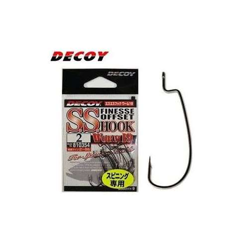 Decoy WORM19 SS HOOK Decoy WORM19 SS HOOK. Un amo offset di piccolissime dimensioni, ideale per inneschi texas o split shot di