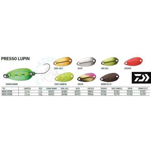 Cucchiaino Daiwa PRESSO LUPIN gr. 1,8
