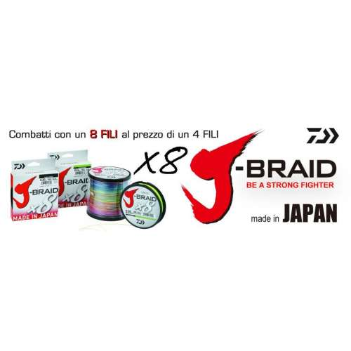 Daiwa J-BRAID 8X mt. 150